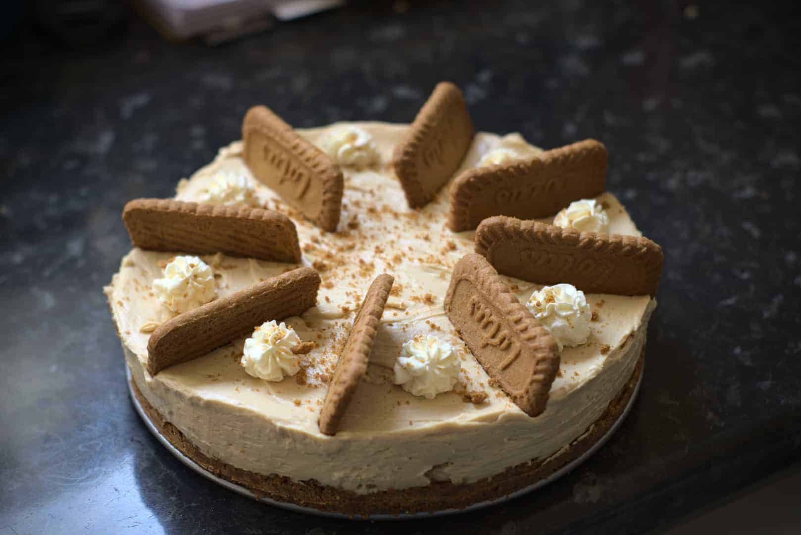 Quick and easy Biscoff cheesecake